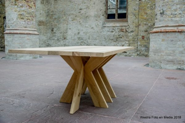 LeVin massief eiken houten design eetkamer tafel