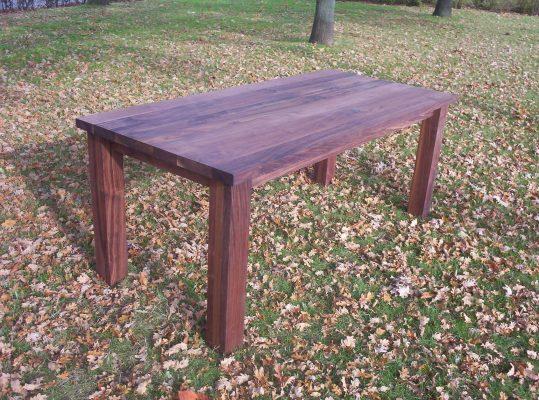 Klassieke massief eiken noten houten eetkamer tafel 3