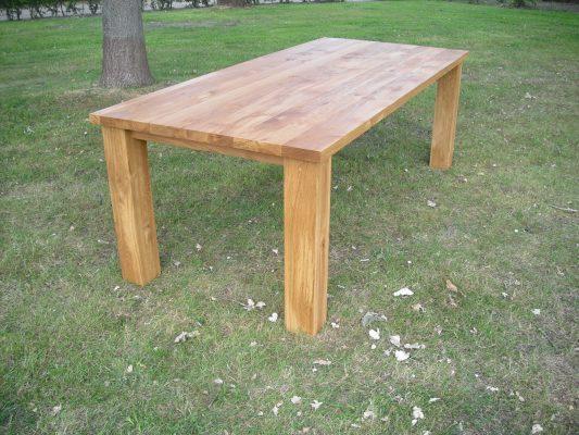 Klassieke massief eiken noten houten eetkamer tafel 2