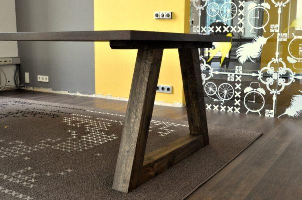 massief noten houten design eetkamer tafel