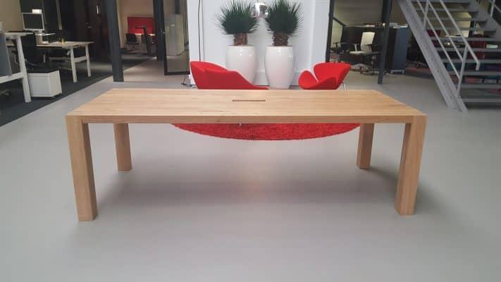 Asilence massief eiken houten design eetkamer tafel