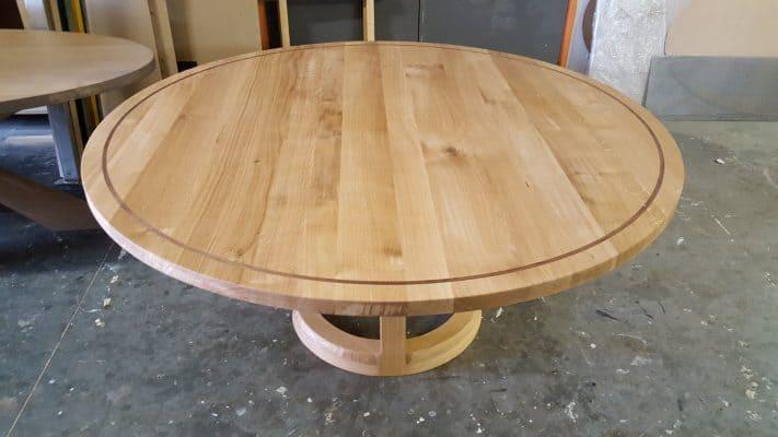 Round massief eiken houten design eetkamer