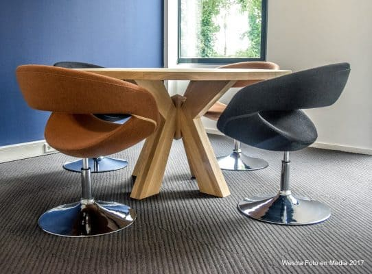 Figaro massief eiken houten design eetkamer tafel rond 3