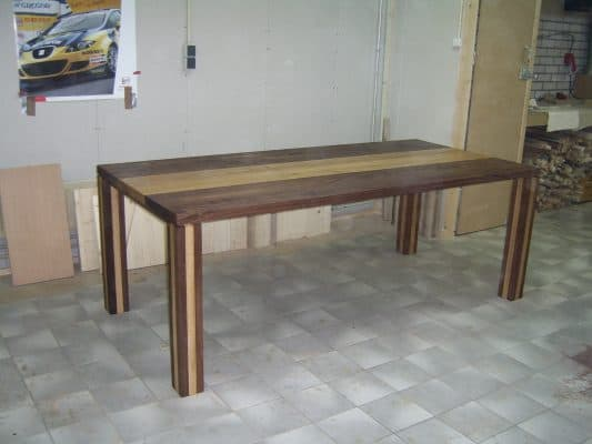 Nuance massief eiken noten houten design eetkamer tafel