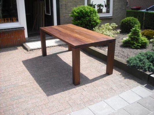 Nuance massief noten houten design eetkamer tafel