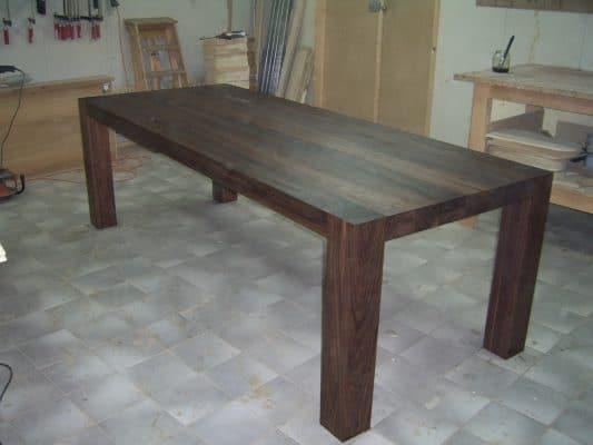 massief Noten houten eetkamer tafel