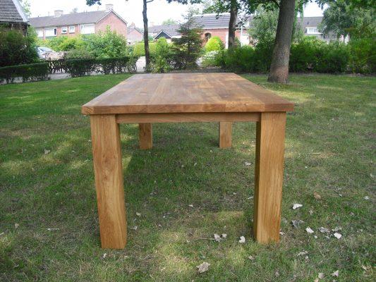 Klassieke massief eiken houten design eetkamer tafel
