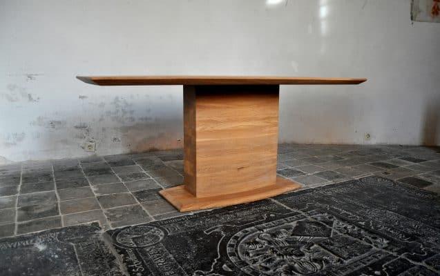 Artovaal massief eiken houten design eetkamer tafel