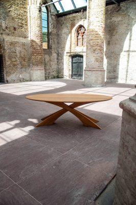 Massief eiken houten design eetkamer tafel 1
