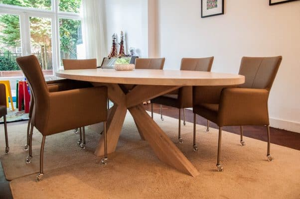 massief eiken design eetkamer tafel 1