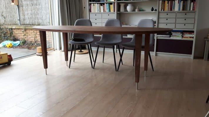 Brant massief noten houten design eetkamer tafel ovaal