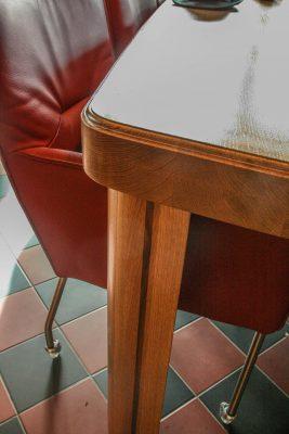 Massief Eiken Noten design eetkamer tafel bies