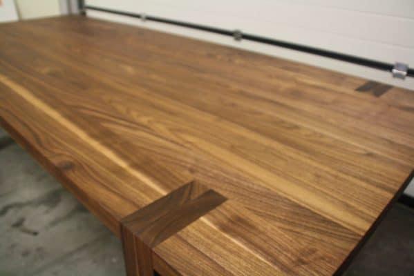 massief eiken noten houten design eetkamer tafel