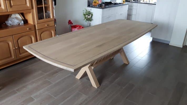 Haytop massief eiken noten houten design eetkamer tafel ovaal 4