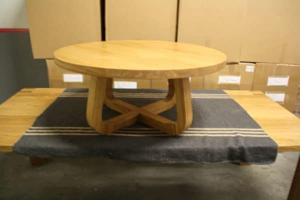 LeQuatre massief eiken design salon tafel rond