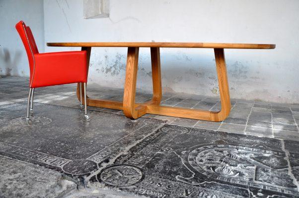massief eiken houten design eetkamer tafel