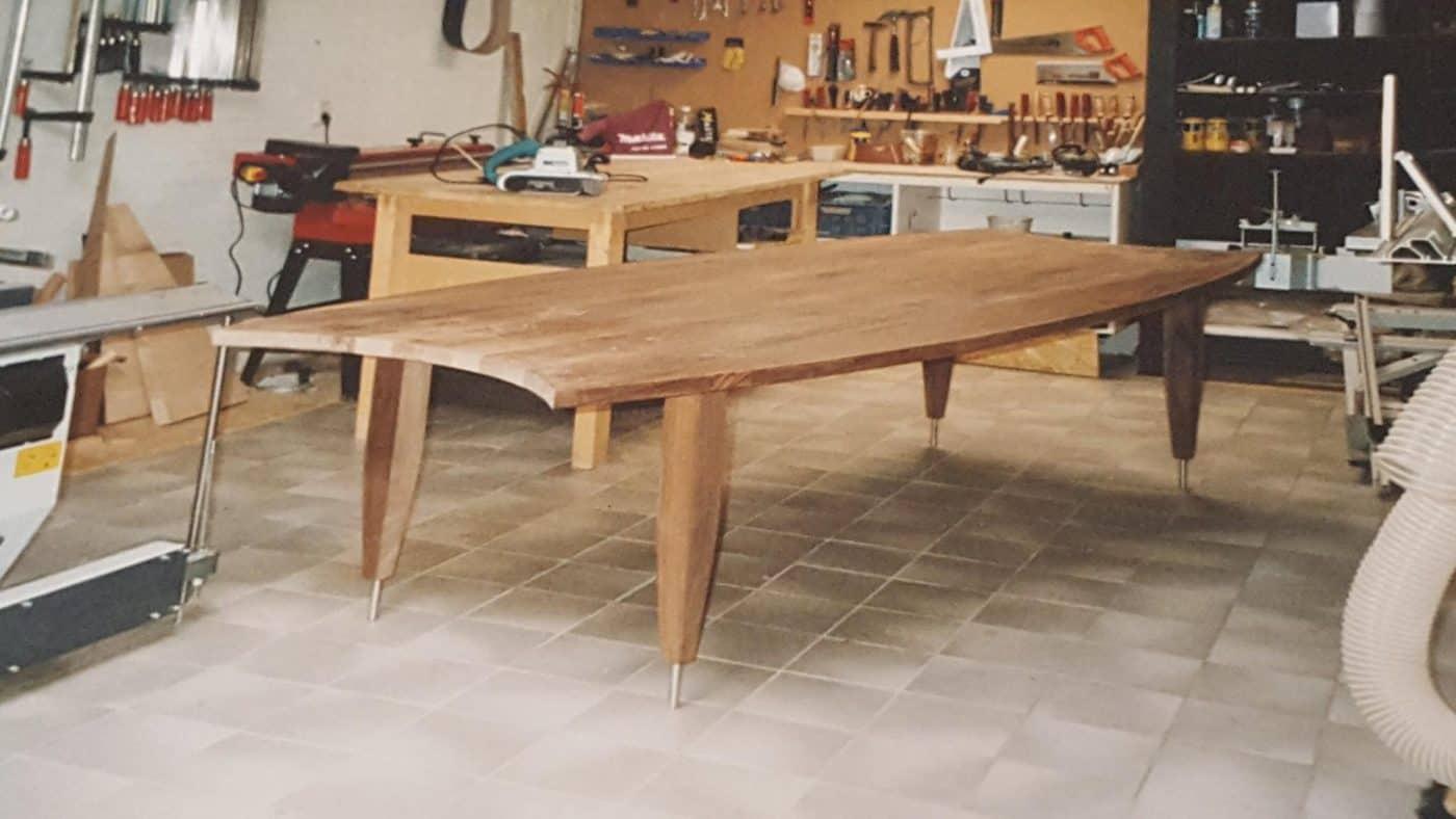 First massief eiken houten design eetkamer tafel