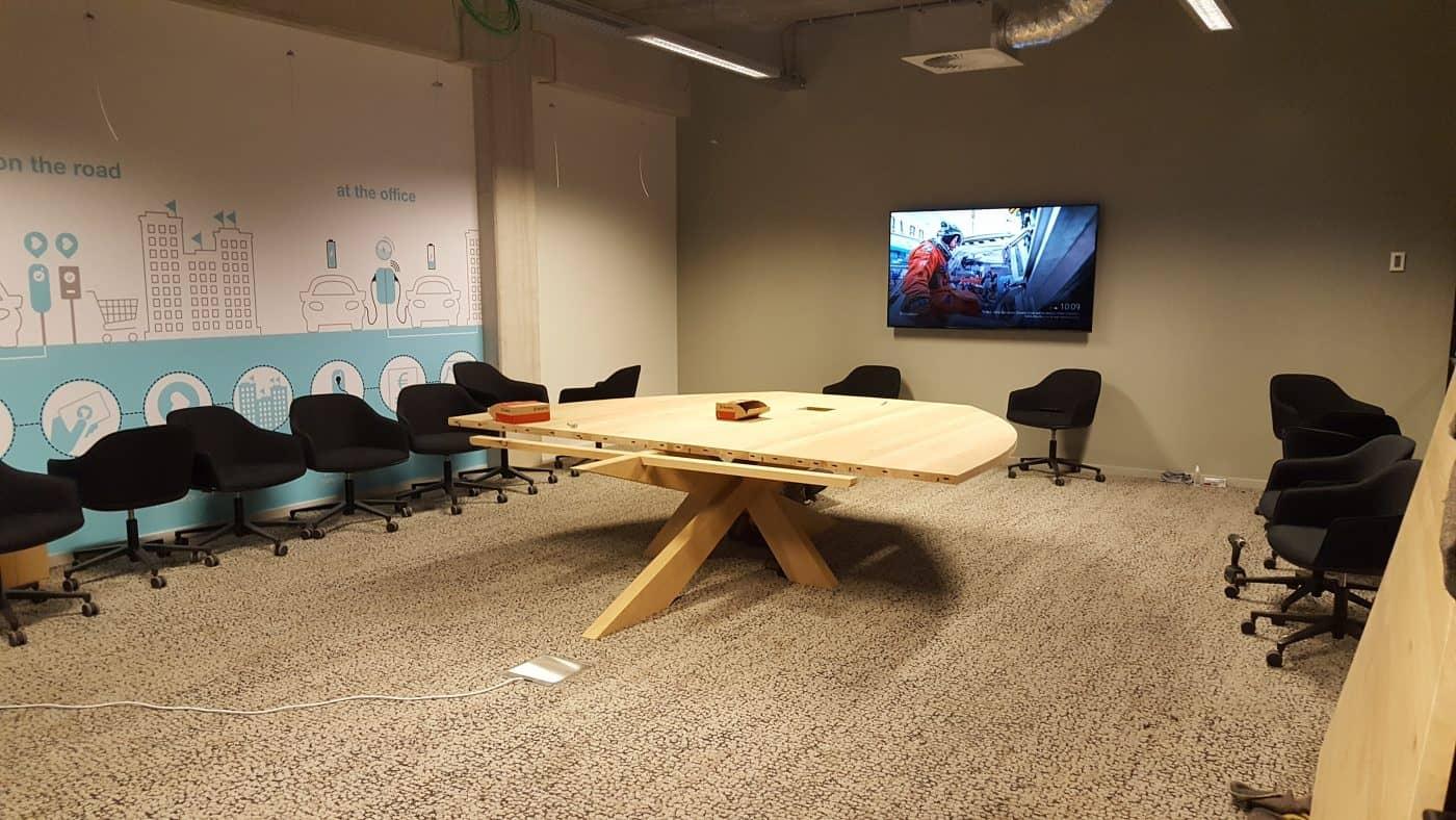 Massief eiken houten boardroom tafel