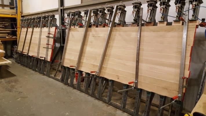 Massief eiken noten houten tafelbladen tafelblad meubelmaker