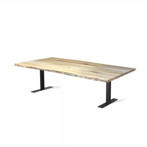 Massief eiken houten eikenhouten boomstam eettafel tafel eetkamer keuken meubelmaker friesland