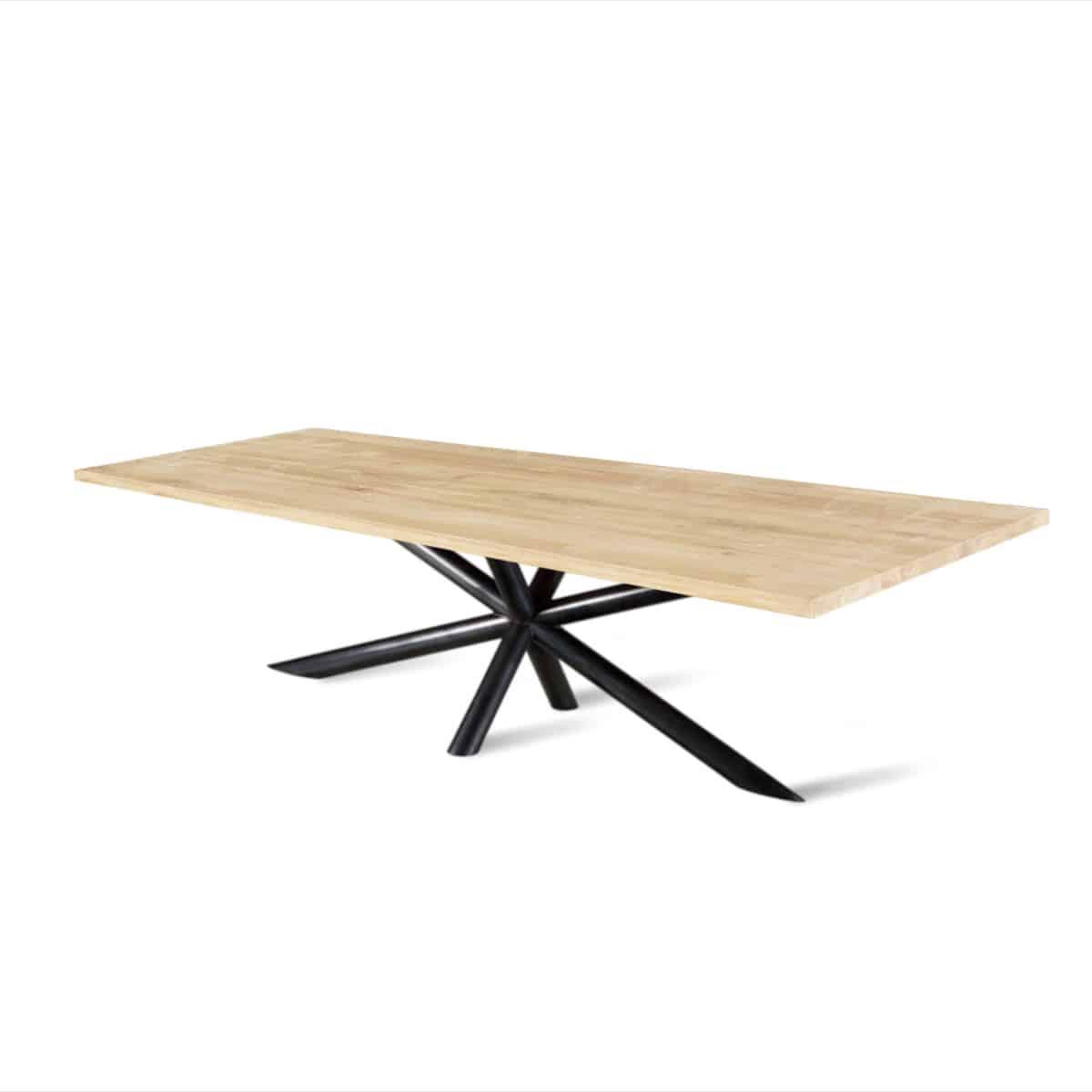 Ovaal ovale massief eiken eikenhouten boomstam eetkamer tafel eettafel keuken meubelmaker Friesland