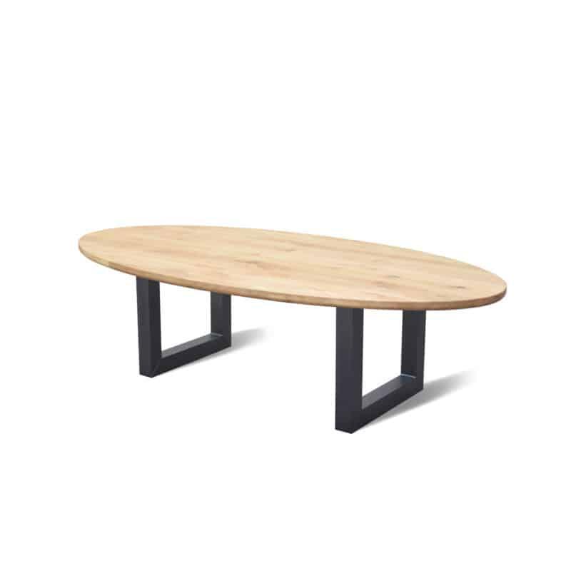 Ovaal eiken tafel beant artisew design for Design tafel ovaal