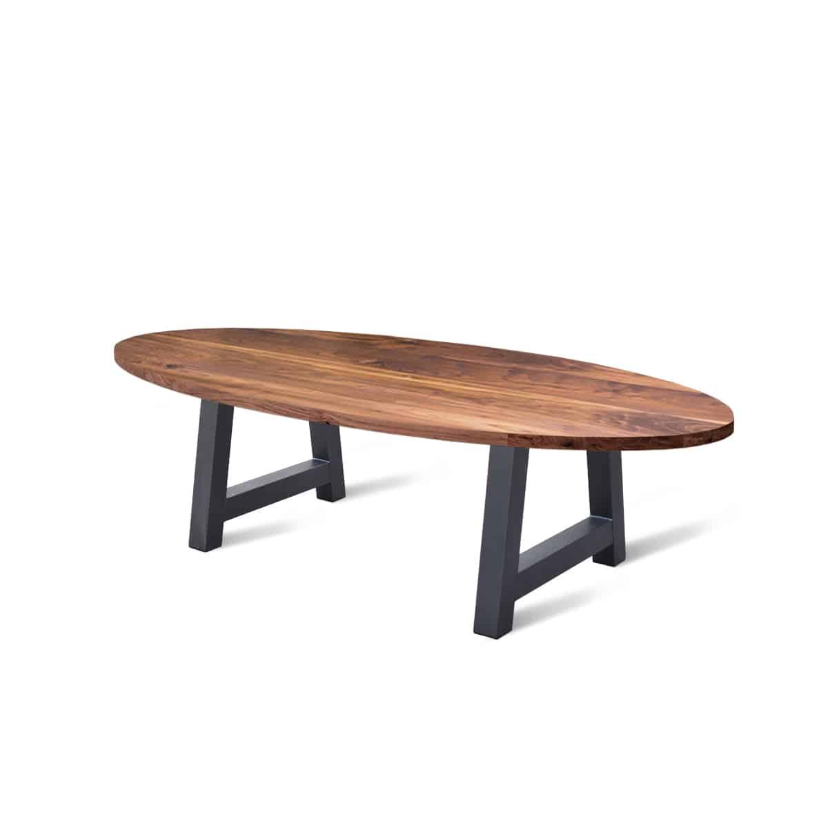 massief rechte noten walnoten houten industrieel tafel eetkamer keuken meubelmaker friesland