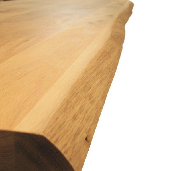 Massief eiken houten boomstam tafel